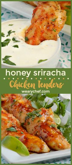 Honey Sriracha Chicken Tenders are a perfect family meal or game day snack. Serve them with homemade ranch for dipping!