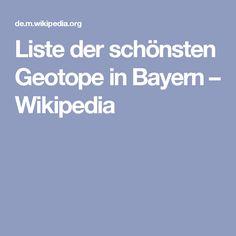 Liste der schönsten Geotope in Bayern – Wikipedia