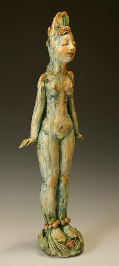 Pat Swyler is a fine ceramicist who creates figurines infused with a depth of feeling and beauty. The figures usually display classical Mudras, ( hand gestures ) and manage to reflect the subtly of meditation. Breath In Breath Out, Clay Figures, Creative Words, Wicca, Ceramic Art, Art Designs, Sculpture Art, Art Dolls, Art Ideas
