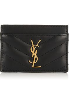 quilted leather cardholder / saint laurent