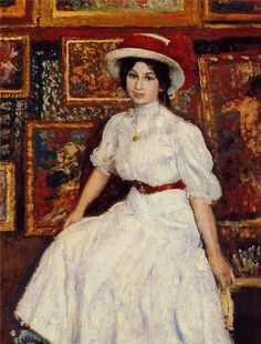 Georges Lemmen - Young Girl in White