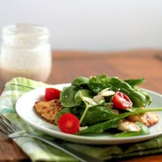 Chicken Milanese with Spinach Salad and Red Wine Vinaigrette