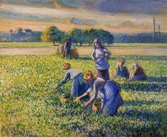 Picking Peas - Camille Pissarro 1887
