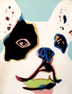 "Amy Edwards, Original ""PAWP ART"" French Bulldog Painting."
