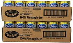 Ocean Spray Pineapple Juice 100%, 5.5-Ounce Cans (Pack of…
