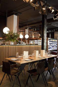 Restaurant Diurno I Madrid. Brunch, ensalada de pasta, tarta de queso, de zanahoria...
