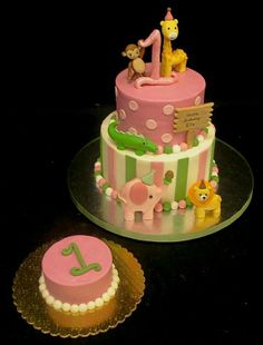 Did you know that when ordering a 1st birthday cake the guest of honor gets his or her own special smash cake for free? If you are not familiar with smash cakes, they are a small single layer cake made special for the birthday girl or boy to indulge in and make a wonderful mess! It's always a smash hit at any 1st birthday party.