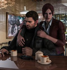 evening with Redfields ( Chris and Claire) by kingofshadows26 on DeviantArt