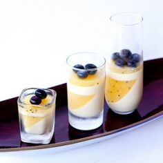 Lemongrass panna cotta with golden kiwi gelee. Honestly, how can you go wrong? This whole website is full of wonderful!