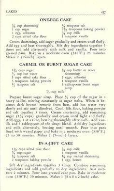 The American woman's cook book Retro Recipes, Old Recipes, Vintage Recipes, Cookbook Recipes, Baking Recipes, Cake Recipes, Dessert Recipes, Desserts, Recipies