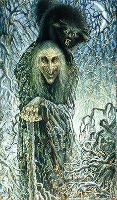 Baba Yaga , is in Slavic folklore, the wild old woman; the witch; mistress of magic; a mythical creature. She is also seen as a forest spi...