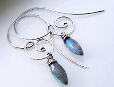 Sterling silver earring Sterling silver by atelierblaauw on Etsy, $33.95