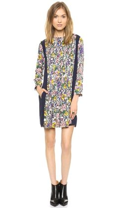 Band of Outsiders Floral Blocked Dress