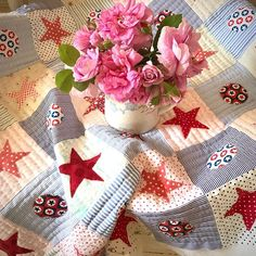 Helen Philipps this is the star quilt I showed the other day now being quilted ✂️🧵✂️i Coastal Quilts, Flowers Today, Applique Quilts, Weather, Quilting, Handmade, Star, Instagram, Scrappy Quilts