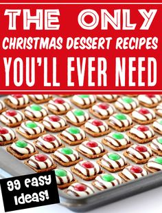 Christmas Dessert Recipes! Easy Fancy, Traditional and Cute desserts to serve at all of your holiday parties this year! Go check out the recipes so you have some on hand for your upcoming parties and gatherings!