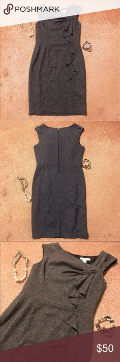 White House Black Market Tweed Dress Size 10 White House Black Market tweed dress with slip skirt lining. Excellent quality, true to size. Wore for work a few times but it sits in the back of the closet and needs more love! No stains, marks, or issues- like new. Make an offer! White House Black Market Dresses