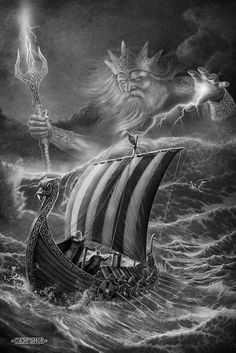 Image result for full back viking ship tattoo