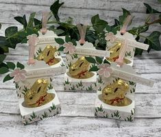 Stampin Up Ostern, Scrapbooking, Stamping Up, Cardmaking, Card Stock, Place Card Holders, Table Decorations, Creative, Big Shot