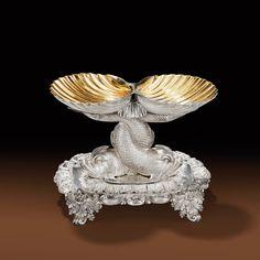 A FRENCH PARCEL-GILT SILVER DOUBLE SALT CELLAR, CHARLES-NICOLAS ODIOT, PARIS, 1826-1838