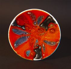 Poole Pottery Delphis pin dish 1970's