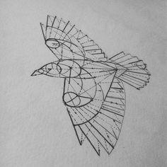 Geometry Crow Bird tattoo design | Best Tattoo Ideas Gallery