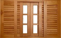 Dispor itens por tag: janelas de madeira