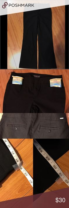 GUESS 81 stretch dress/work pants size 32 GUESS 81 stretch dress/work pants size 32 75% rayon 22% nylon 3% spandex = 100% awesomeness. I put stuff in the front pockets to show how deep the pockets are. No damage and I'm great shape! 🚫trades, offers accepted. Guess Pants Boot Cut & Flare