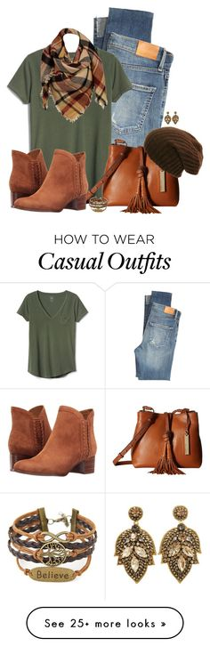 """Casual Winter's Day"" by autumnwolf1965 on Polyvore featuring Citizens of Humanity, Gap, Vince Camuto, Franco Sarto and Sylvia Alexander"