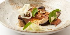Paul Foster's duck breast recipe marries the rich flavours of nuts, seeds and sweet date purée with the umami taste of soy glaze and pickled shiitake