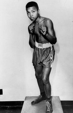Young Muhammad Ali - back then, he went by the name Cassius Clay