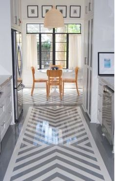 I'm in love with painted floors. :) I'm in love with painted floors. :] Decking of your residence is the most remarkable interior arc. Painted Vinyl Floors, Vinyl Flooring, Kitchen Flooring, Vinyl Tiles, Plywood Floors, Basement Flooring, Laminate Flooring, Paint Chevron, Chevron Floor