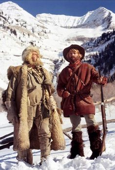 """Will Geer and Robert Redford in """"Jeremiah Johnson"""" (1972) Loosely based on the life of mountain man Liver-eating Johnson"""