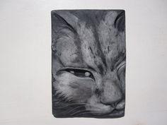 Cat Portrait Wallsculpture ' Jefferson ' Art by SculptureGeek