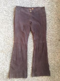 28.04$  Watch here - http://vihus.justgood.pw/vig/item.php?t=dia5zt42974 - Tory Burch Brown Suede Leather Pants - Women's Size 6