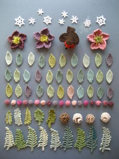 Stunning! Lucy never fails to wow. Links to all the patterns for various leaves flowers and other resources in this post.