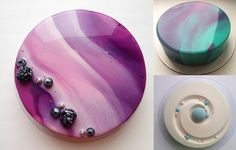DIY Mirror Glaze Cake Marble Decorating Recipe