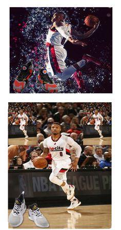 148205940e20a8  DamianLillard  LogoShoes  AllStarGame  shoe  Mens  Fashionable Rising out  of Oakland