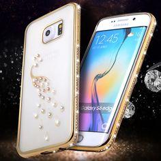 Luxury Rhinestone Silicone Case For Samsung Galaxy S7 / S7 Edge/ S7edge Plus/ S6/ S6 Edge Clear TPU Diamond Back Cover Coque