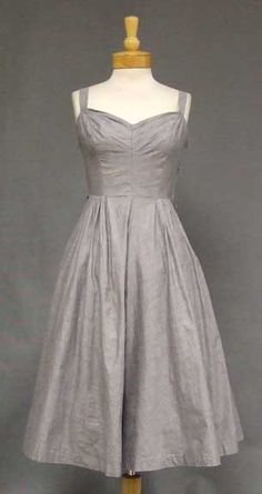 Vintageous, LLC - Grey Chambray 1950's Sun Dress, $90.00 (http://www.vintageous.com/grey-chambray-1950s-sun-dress/)
