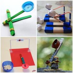 Catapult Ideas Your Kids Will Flip For - Simple Machines Science Activities, Science Projects, Projects For Kids, Diy For Kids, Activities For Kids, Craft Projects, Crafts For Kids, Indoor Activities, Preschool Science