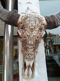 Cow bone carving -- Ubud, Indonesia
