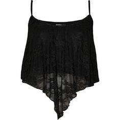 Karissa Cropped Lace Cami Top ($20) ❤ liked on Polyvore featuring tops, shirts, crop tops, black, tank tops, summer tops, lace camisole, lace top, black lace cami and black shirt