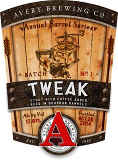 Avery Brewing To Release Tweak Bourbon Barrel-Aged Coffee Beer • thefullpint.com
