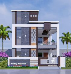 Front Elevation Designs, Duplex House Design, Floor Plan Layout, Home Fashion, Exterior Design, Multi Story Building, Floor Plans, Flooring, 3d
