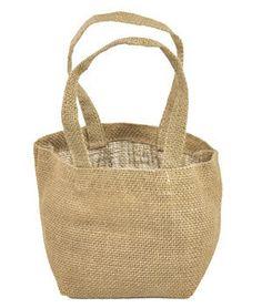Natural Mini Jute Tote Bags - 6 Pack