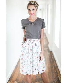 Chiffon Floral Skirt - MSS17269