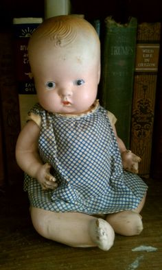 Vintage composition doll.