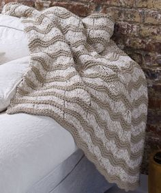 Knit Wave Afghan Knitting Pattern | Red Heart