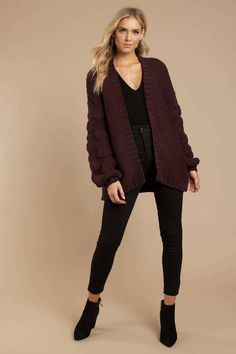 Get cozy in a cute cardigan! Shop our collection of cardigan sweaters, long cardigans, oversized, and more! + Get off your first order! Summer Cardigan, Red Cardigan, Cable Knit Cardigan, Oversized Cardigan, Long Cardigan, Cardigan Sweaters, Cool Outfits, Casual Outfits, Casual Clothes