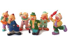 Vintage Enesco Mini Clown Figurines New Old by EclecticVintager